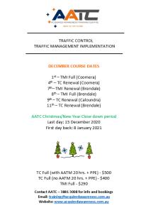 AATC Courses - December 2020