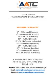 AATC Courses - November 2020